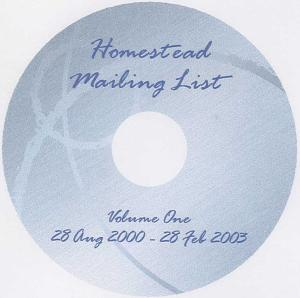 Homestead Mailing List Archives